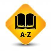 A 到 Z (书图标) 黄色按钮 — 图库照片