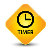 Timer yellow button — Fotografia Stock