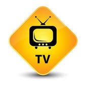TV yellow button — Stock Photo