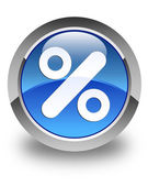 Discount icon glossy blue round button — Stock Photo