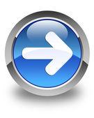 Next arrow icon glossy blue round button — Stock Photo