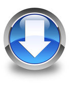 Download arrow icon glossy blue round button — Foto de Stock