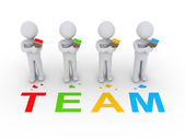 Group of painters as team — Stock Photo