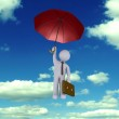 Businessman falling from the sky — Stock Photo #63922223