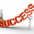 Walk the success path with help — Stock Photo #65065493