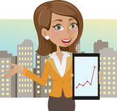 Successful business woman — Stock Vector