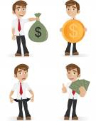 Young businessman -set — Stock Vector