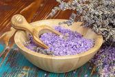 Lavendel spa. spa lavendel zout — Stockfoto