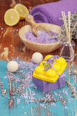Spa. limon ve lavanta güzellik bakımı — Stok fotoğraf