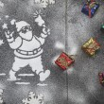 Santa and stars — Stock Photo #54058493
