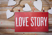 Love Story card — Stock Photo