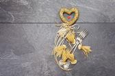 Valentine's dinner concept — Stock Photo