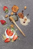 Breakfast. Ingredients for a healthy breakfast. — Stock Photo