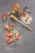 Breakfast. Ingredients for a healthy breakfast — Stock Photo
