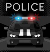 Police car with flash light — Vecteur