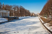 View of Moyka river and Mikhailovsky garden. Saint-Petersburg. Russia — Stock Photo