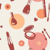 Cosmetics pattern — Stock Vector