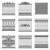Fences set — Stock Vector