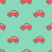 Padrão de carros vermelhos — Vetor de Stock