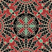 Mandala tile pattern — Stock Vector