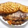 Carp stuffed with bread in the form of fish — Stock Photo #62684937