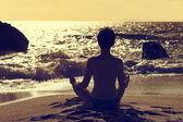 Lotus yoga — Foto Stock