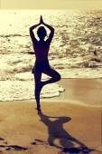 Yoga pray — Stock Photo