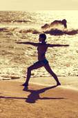 Yoga-Krieger — Stockfoto