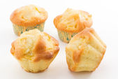 Muffin with apples — Stock Photo
