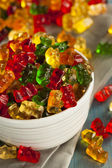 Colorful Fruity Gummy Bears — Stock Photo