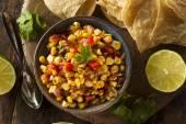 Homemade Spicy Corn Salsa — Stock Photo