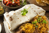 Homemade Giant Beef Burrito — Stock Photo