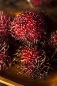 Fresh Organic Tropical Rambutan — Stock fotografie
