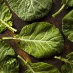 Raw Organic Green Collard Greens — Stock Photo #52760887