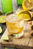 Organic Ginger Ale Soda — Stock Photo