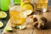 Organické zázvorové pivo sody — Stock fotografie