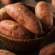 Organic Raw Sweet Potatoes — Stock Photo #53188533