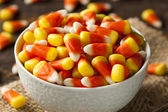 Colorful Candy Corn for Halloween — Stock Photo