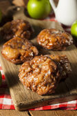 Homemade Glazed Apple Fritters — Stock Photo