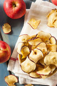 Baked Dehydrated Apples Chips — Stock Photo