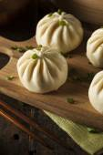 Steamed BBQ Pork Asian Buns — Stock Photo