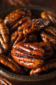 Homemade Candied Pecans with Cinnamon — Stock Photo