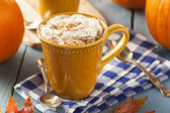 Herbst Pumpkin Spice latte — Stockfoto
