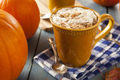 Autumn Pumpkin Spice Latte — Stockfoto