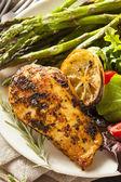 Homemade Lemon and Herb Chicken — Stock Photo