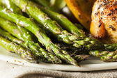 Homemade Healthy Baked Asparagus — Stock Photo