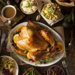 Whole Homemade Thanksgiving Turkey — Stock Photo #55830717