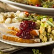 Homemade Thanksgiving Turkey on a Plate — Stock Photo #55830889