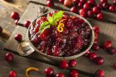 Homemade Red Cranberry Sauce — Stock Photo