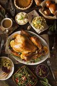 Whole Homemade Thanksgiving Turkey — Stockfoto